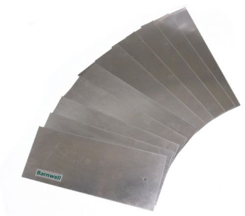 Barnwell 1.5mm Notched Adhesive Trowel Blade x 10